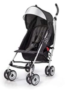 one hand fold compact stroller