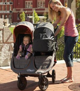 double stroller with bassinet option