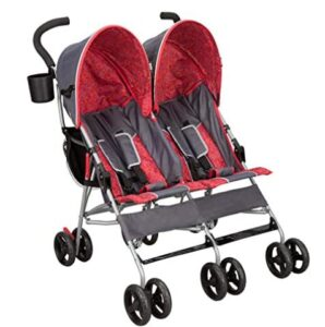 compact double stroller with bassinet