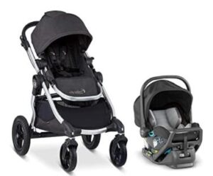 two in one lightweight city stroller and car seat combo